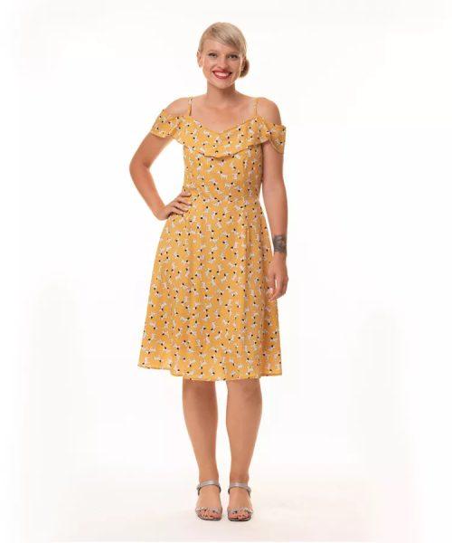 שמלת גולין צהוב כלבלבים