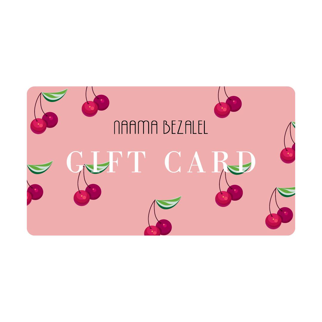 Gift Card למימוש באתר בלבד