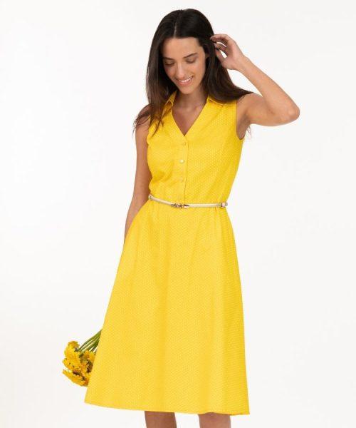 שמלת ארין צהוב נקודות
