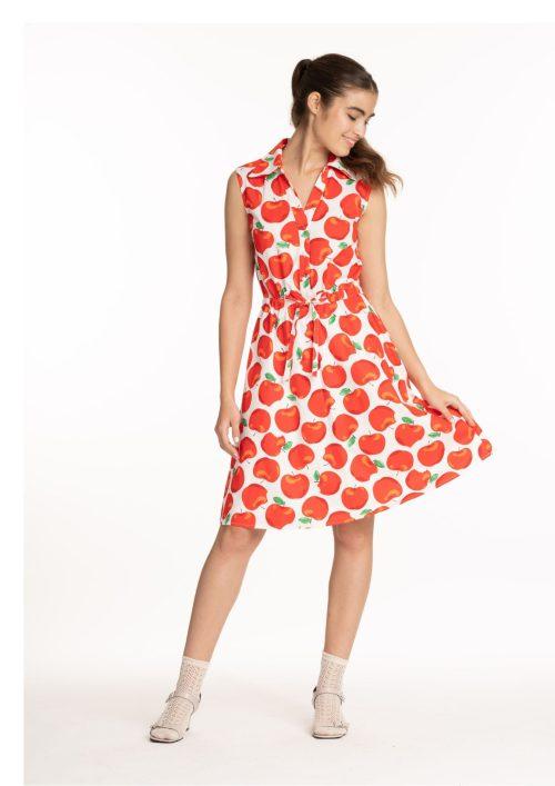 שמלת סוני אדום תפוחים