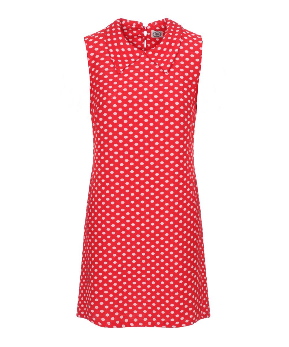 שמלת הני אדום נקודות